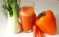 Ingredients:  7 medium carrots  1 medium orange bell pepper (capsicum)  1 pear  2 inches ginger  1 fennel bulb    Directions:  1.) Rinse all ingredients.    2.) Remove top off pepper; and remove seeds.    3.) Add ingredients through juicer.    4.) Serve and enjoy!