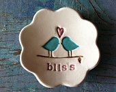Love Bird Ring Dish- Bliss by Chrissy Ann Ceramics The Original Love Bird Ring Bowl