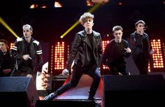 Daniel Seavey Corbyn Besson Jack Avery Zach Herron and Jonah Marais of Why Don't We perform onstage at 1061 KISS FM's Jingle Ball 2017 Presented by...