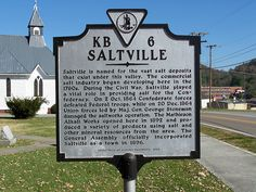 Saltville history marker
