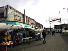 The Barras Market.  Glasgow East End.