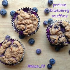 Ripped Recipes - Protein Blueberry Muffins - Blueberry muffins that are packed with fiber and protein!