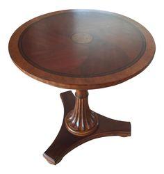 Ethan Allen Upton Pedestal Side Table on Chairish.com