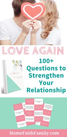 """Do you want to strengthen your marriage? Grab your FREE copy """"Love Again: 100+ Questions to Strengthen Your Relationship""""! You and your spouse will love the variety of questions as you open up to new intimate conversations and goals in a way you never thought possible.GRAB YOUR FREE COPY TODAY!"""