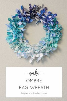 30 Excellent Picture of Sewing Scrap Projects Leftover Fabric . Sewing Scrap Projects Leftover Fabric Ombre Rag Wreath Hey Lets Make Stuff Scrap Fabric Projects, Fabric Crafts, Sewing Crafts, Craft Projects, Craft Ideas, Tulle Crafts, Sewing Projects, Craft Tutorials, Fabric Wreath