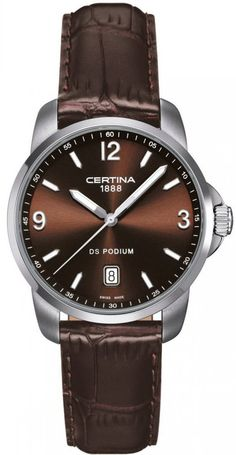Certina Watch DS Podium Quartz #bezel-fixed #bracelet-strap-leather #brand-certina #case-material-steel #case-width-38mm #date-yes #delivery-timescale-7-10-days #dial-colour-brown #gender-mens #luxury #movement-quartz-battery #official-stockist-for-certina-watches #packaging-certina-watch-packaging #style-dress #subcat-ds-podium #supplier-model-no-c001-410-16-297-00 #warranty-certina-official-2-year-guarantee #water-resistant-100m
