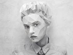 Polygon art - Juliia Oh by D E L O