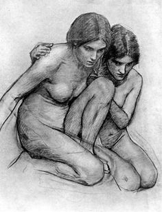 Study for The Nymphs Finding the Head of Orpheus by John William Waterhouse