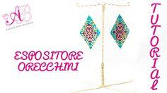 DIY Tutorial Espositore per orecchini (earring display stand)