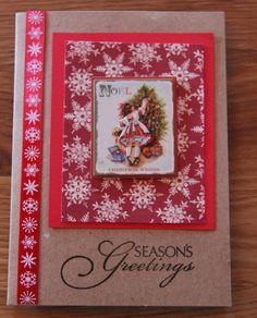 Handmade Cards, Handmade Christmas Card, Christmas Card, Vintage Christmas Card on Etsy, $3.00