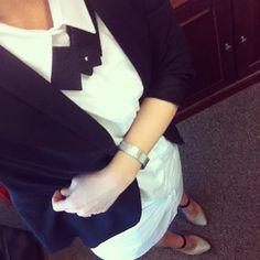 My Outfit - Acne Studios Dress, Michael Kors Heels, J. Crew Cardigan.