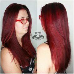 Cherry Red Bonte Haarkleur Melting