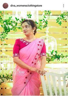 Embroidery On Kurtis, Embroidery Saree, Hand Embroidery, Nice Pick, Pattu Saree Blouse Designs, Kerala Saree, Baby Frocks Designs, Trendy Sarees, Saree Models