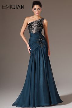 Online Shop Dark Blue Chiffon Evening Gowns,One Shoulder Mer.-Online Shop Dark Blue Chiffon Evening Gowns,One Shoulder Mermaid Evening Dresses,Black Lace Applique Long Formal Evening Party Gowns Evening Party Gowns, Chiffon Evening Dresses, Black Evening Dresses, Blue Wedding Dresses, Mermaid Evening Dresses, Chiffon Dress, Strapless Dress Formal, Formal Dresses, Elegant Evening Gowns