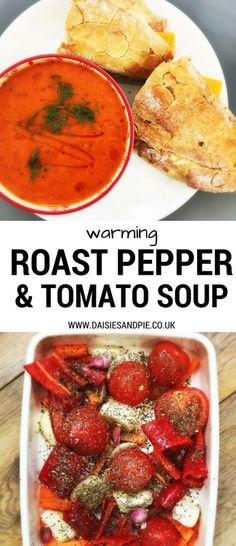 Simmer up a bowlful of warming gently spiced autumn soup - roast red peppers and tomatoes a kick of fennel and a drizzle of chilli oil - add some good bread and cheese and it's a complete feast. Totally delicious vegetarian soup recipe.