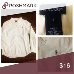 Ralph Lauren Oxford Shirt Pre•loved Ralph Lauren Button Up Shirt • Size 6 • Excellent condition Ralph Lauren Shirts & Tops Button Down Shirts