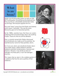 9 Atoms and Molecules Help your child learn about the building blocks of matter with these science worksheets that revolve around the teeny tiny atom. He'll soon understand how atoms come together to form the molecules that make up our world. High School Chemistry, Teaching Chemistry, Chemistry Teacher, Middle School Science, Science For Kids, Science Fun, Life Science, Science Worksheets, Science Resources