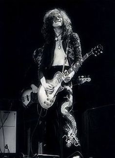 Jimmy Page and his famous 1959 Les Paul, the guitar that influenced a generation.