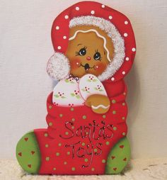 HP Gingerbread Christmas toys ginger SHELF SITTER hand painted USA