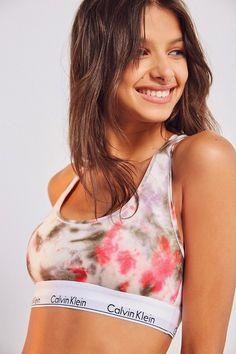 92697c359f2331 Calvin Klein Modern Cotton Racerback Bralette Shirt Bluse