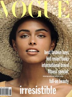 Lana Ogilvie on the cover of Vogue Australia (June 1990)