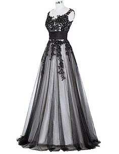 Formal Evening Dress A-line Jewel Floor-length Lace with Appliques / Beading / Lace 5266309 2016 – $166.79