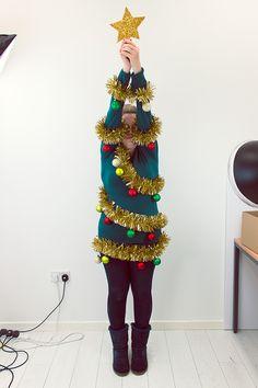 Christmas Tree Jumper Tutorial Diy Fancy DressDiy
