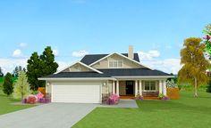 Homey Craftsman Bungalow - 28908JJ | 1st Floor Master Suite, Bungalow, CAD Available, Craftsman, Loft, PDF, Split Bedrooms | Architectural Designs