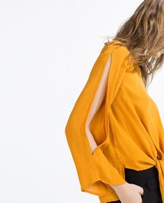 Image 2 of KNOT BLOUSE from Zara