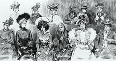 Gibson, Charles Dana (b,1867)- When Women are Jurors, 1902- 'Studies in Expression' (1 of 4)