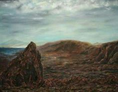 Volcanic landscape. Oil and sand by Jesús Ojeda. (80x60 cm)