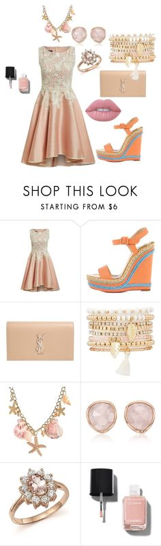"""Bez naslova #72"" by alma-ja ❤ liked on Polyvore featuring Christian Louboutin, Yves Saint Laurent, Charlotte Russe, Monica Vinader, Bloomingdale's, Chanel and Lime Crime"