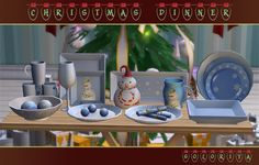 ***Christmas Dinner*** TS2 Includes 12 decorative objects. Each object can be found in category Decorative - Sculptures and costs 50 simoleons. Different color variations of red, green, blue and white...