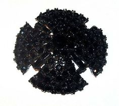 "❘❘❙❙❚❚ ON SALE ❚❚❙❙❘❘   Maltese Cross Brooch Pin Signed CRAFT Black Rhinestones Japanned Metal 2"" #Vintage offered by brightgems treasures.  Bold Maltese Cross Brooch Pin Si... #jewelry #vintage #sterling #artdeco #victorian #etsy ➡️ http://jto.li/5MnZq"