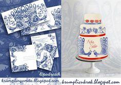 blue-bird wedding cake by Lipovszky-Drescher Mária Hungarian Cake, Peacock Cake, Wedding Cake Inspiration, Blue Bird, Wedding Cakes, Sweets, Desserts, Shop, Wedding Gown Cakes