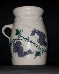 Salmon Falls Stoneware 2003 Grapevine One Handled Crock in Mint Condition | eBay
