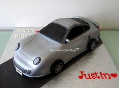 3D Porsche 911 Turbo - Cake by Violet - The Violet Cake Shop