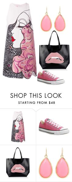 """""""Bez naslova #2"""" by okano ❤ liked on Polyvore featuring Giamba, Converse, RED Valentino and Kate Spade"""