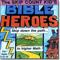 Skip Count Kid's Bible Heroes Musical Multiplication Songs - we used this set when I was teaching in a Christian school. it REALLY helped the kiddos learn their multiplication facts! Skip Counting Songs, Counting For Kids, Bible For Kids, Music For Kids, 4 Kids, Multiplication Songs, Cute Bibles, Bible Heroes, Bible Songs