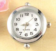 5p New Príchod módne Quartz Silver Tone Round Watch Faces Pre Lemovanie W17