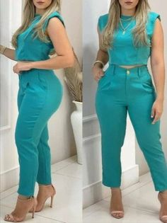 Trend Fashion, Suit Fashion, Fashion Dresses, Plain Crop Tops, Chic Type, Two Piece Outfit, Printed Pants, Womens Fashion Online, Online Clothing Stores