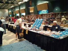 Customers checking out the great selection of titles at the Casemate stand.