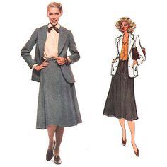Vogue Sewing Pattern 1832 Misses' Jacket, Skirt by Teal Traina American Designer  Size: 16  Uncut