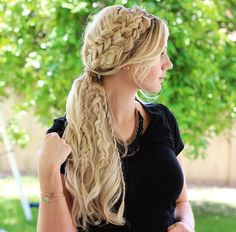 How To: Mixed Braided Ponytail