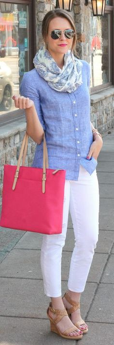 Chippmunk Expert Shopper I went for a summer casual look with lightweight layers and chic basics that would be easy to rework with other items in my closet. When shopping on a budget, I think it's important to mix high & low pieces together so it only looks expensive. For example, I splurged on this J. Crew shirt (though it was on sale, it's still more than I would normally spend) - the classic linen fabric helps elevate my distressed jeans. I added a pop of color with the tote, some ...