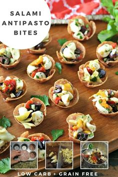 All the flavor of a good Antipasto packed into one Low Carb, Grain Free and Gluten Free Bite! Plus, you can make the filling ahead of time!
