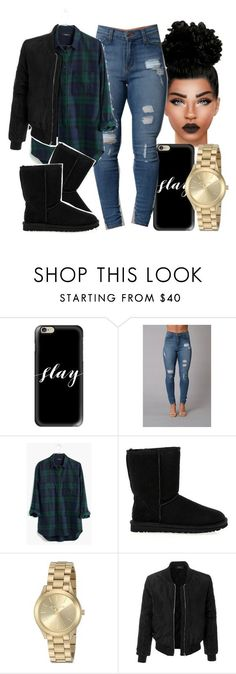 """Untitled #497"" by foreverkaylah ❤ liked on Polyvore featuring Casetify, Madewell, UGG Australia, Michael Kors and LE3NO"