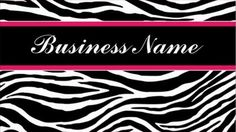 Chic Black and White Zebra Print Stylish Pink Stripe Business Cards  http://www.zazzle.com/zebra_print_modern_elegant_stylish_classy_business_card-240677203716541908?rf=238835258815790439&tc=gbcwebpin Modern style zebra pattern business cards with a hot pink stripe. These trendy and stylish animal print business cards can be personalized by adding the name of your company to the front, and the rest of your contact info to the backside.