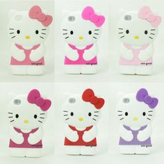 3D Hot Sale Girl Soft Silicone Hello Kitty Cute Case Cover for iPhone 4 4G 4S | eBay
