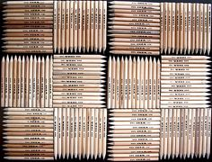 I ♥ ikea pencils!  I have about this many in my knitting baskets, purse, car, couch, nightstand, desk...